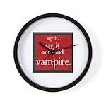 Twilight Say Vampire Wall Clock