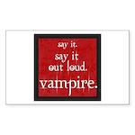 Twilight Say Vampire Rectangle Sticker 10 pk)