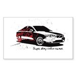 Twilight Stupid Volvo Owner Rectangle Sticker 50