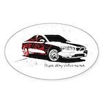 Twilight Stupid Volvo Owner Oval Sticker