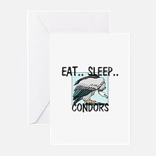 Eat ... Sleep ... CONDORS Greeting Cards (Pk of 10
