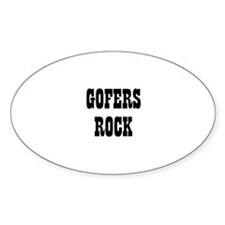 GOFERS ROCK Oval Decal