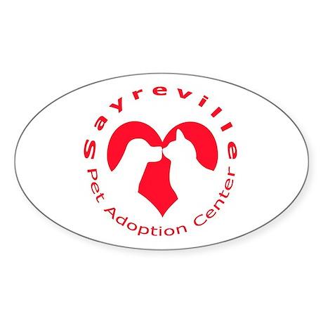Sayreville Pet Adoption Center Oval Sticker