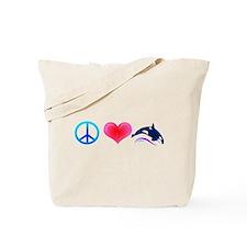 Peace Love Orca Tote Bag