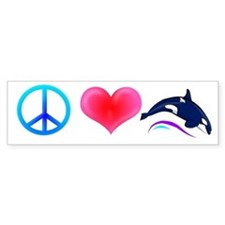 Peace Love Orca Bumper Bumper Sticker