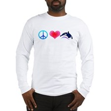 Peace Love Orca Long Sleeve T-Shirt