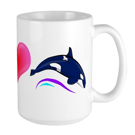 Peace Love Orca Large Mug