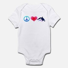 Peace Love Orca Infant Bodysuit