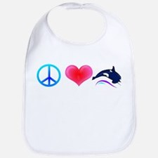 Peace Love Orca Bib