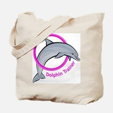 Dolphin Trainer Pink Tote Bag