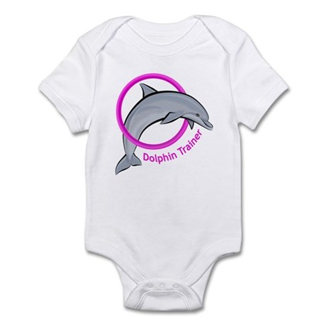 Dolphin Trainer Pink Infant Bodysuit