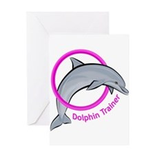Dolphin Trainer Pink Greeting Card
