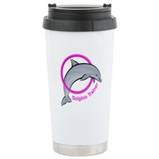 Dolphin Trainer Pink Travel Mug