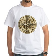 St Benedict Medal with Latin on back Shirt