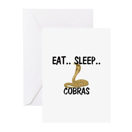 Eat ... Sleep ... COBRAS Greeting Cards (Pk of 10)