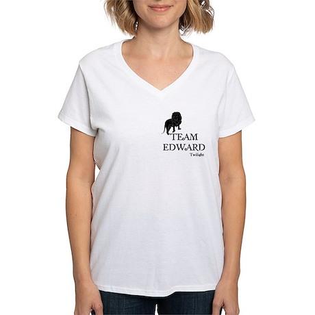 Twilight Team Edward Women's V-Neck T-Shirt
