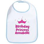 1st Birthday Princess Annabel Bib