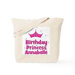 1st Birthday Princess Annabel Tote Bag