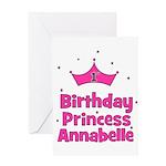 1st Birthday Princess Annabel Greeting Card