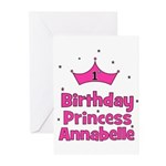 1st Birthday Princess Annabel Greeting Cards (Pk o