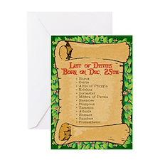 Born on Dec. 25th Greeting Card