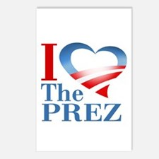 I Heart The Prez Postcards (Package of 8)