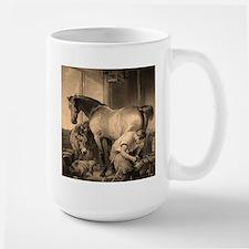 Farrier Shoeing A Horse Mug