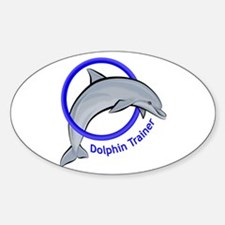 Dolphin Trainer Blue Oval Decal