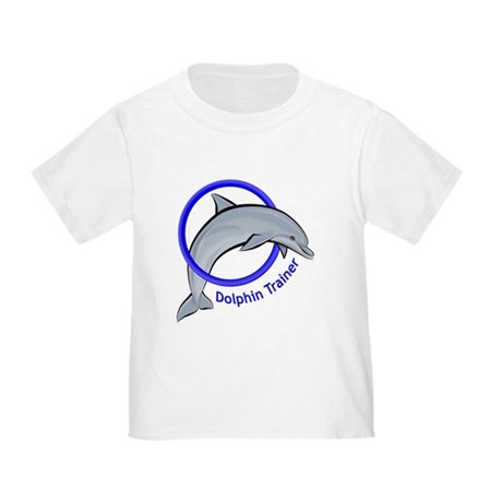 Dolphin Trainer Blue Toddler T-Shirt