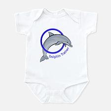 Dolphin Trainer Blue Infant Bodysuit