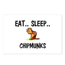 Eat ... Sleep ... CHIPMUNKS Postcards (Package of
