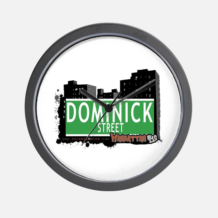 DOMINICK STREET, MANHATTAN, NYC Wall Clock