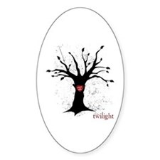 Twilight Edward Bella Tree Oval Decal