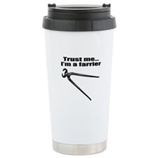 Trust me I'm a farrier Thermos Mug