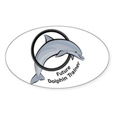 Future Dolphin Trainer Oval Decal