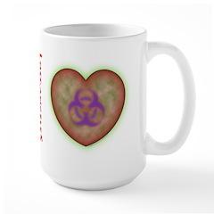 Biohazard Heart Mug