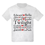 Twilight Hearts Collage Kids Light T-Shirt