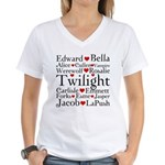 Twilight Hearts Collage Women's V-Neck T-Shirt