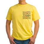 Twilight Hearts Collage Yellow T-Shirt