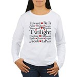 Twilight Hearts Collage Women's Long Sleeve T-Shir