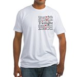 Twilight Hearts Collage Fitted T-Shirt