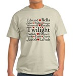 Twilight Hearts Collage Light T-Shirt