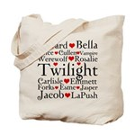 Twilight Hearts Collage Tote Bag