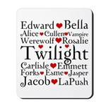 Twilight Hearts Collage Mousepad