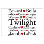 Twilight Hearts Collage Large Poster