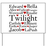 Twilight Hearts Collage Yard Sign