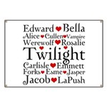 Twilight Hearts Collage Banner