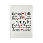Twilight Hearts Collage Rectangle Magnet