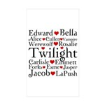 Twilight Hearts Collage Rectangle Sticker 50 pk)