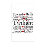 Twilight Hearts Collage Rectangle Sticker